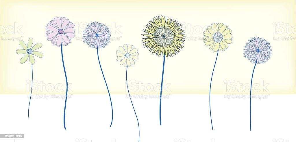 Flower border royalty-free stock vector art