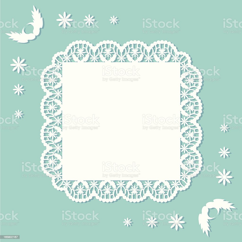 Flower Doily (square) royalty-free stock vector art