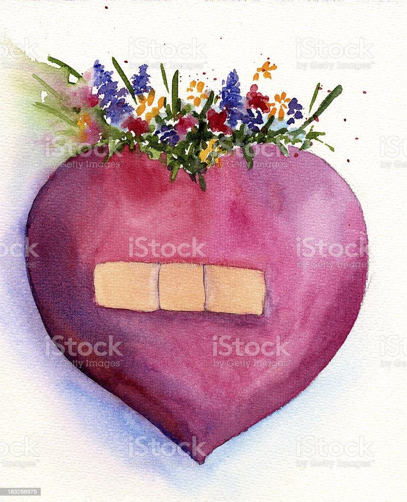 Flower Heart royalty-free stock vector art