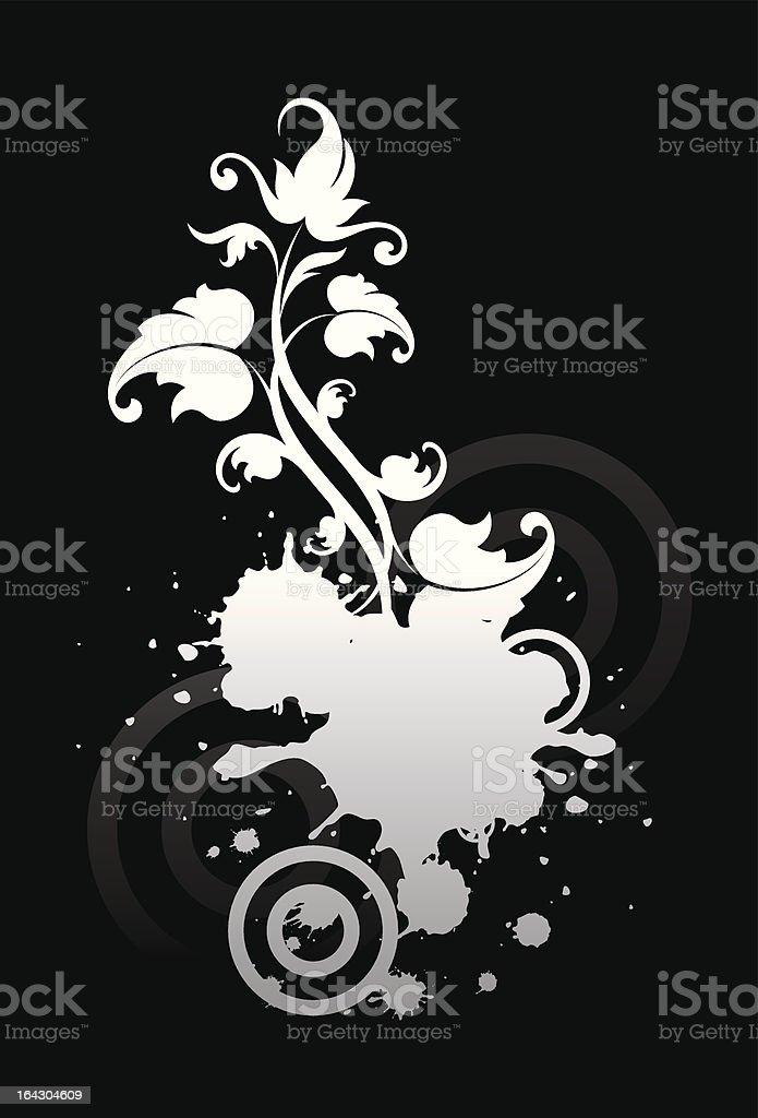 Flower of night royalty-free stock vector art