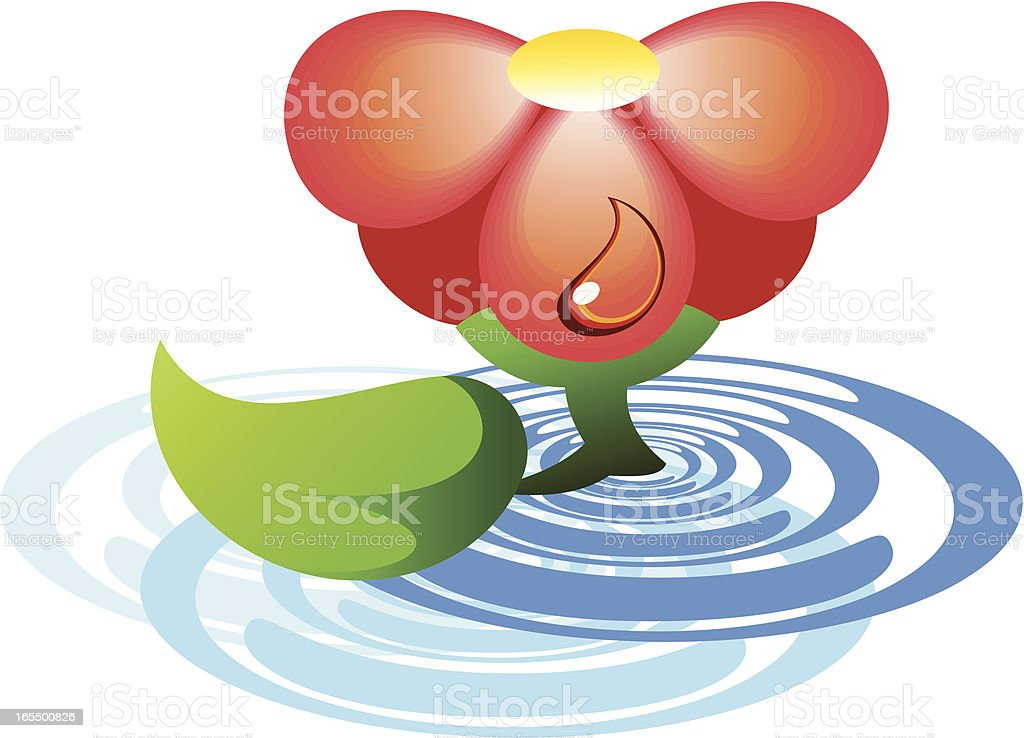 Flower on water royalty-free stock vector art