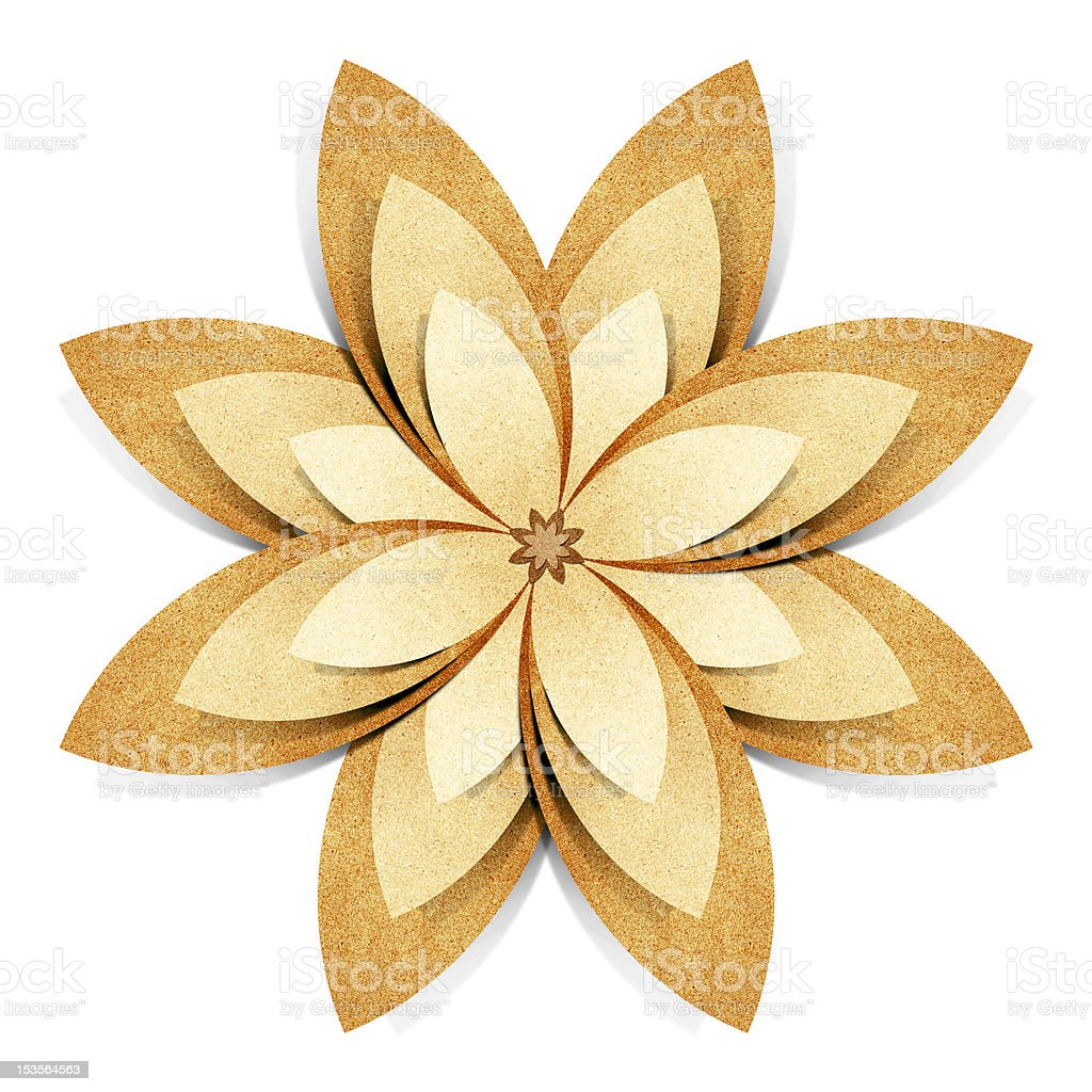Flower origami recycled paper craft royalty-free stock vector art