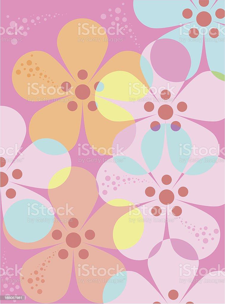 Flower power four royalty-free stock vector art