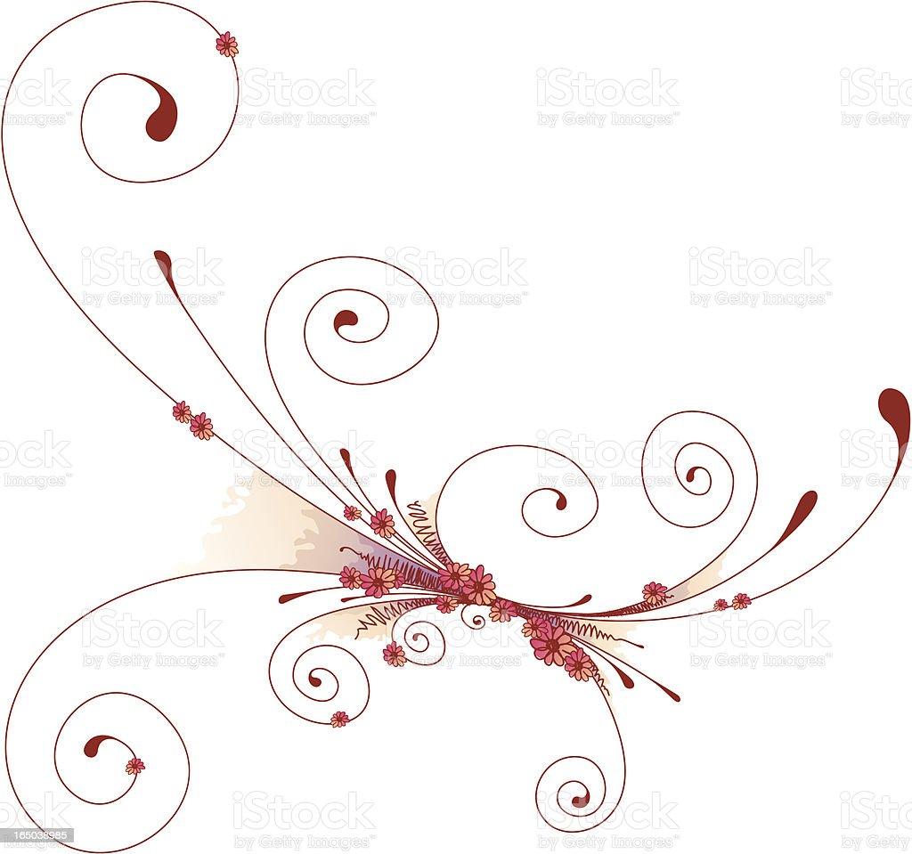 Flower Sketch vector art illustration