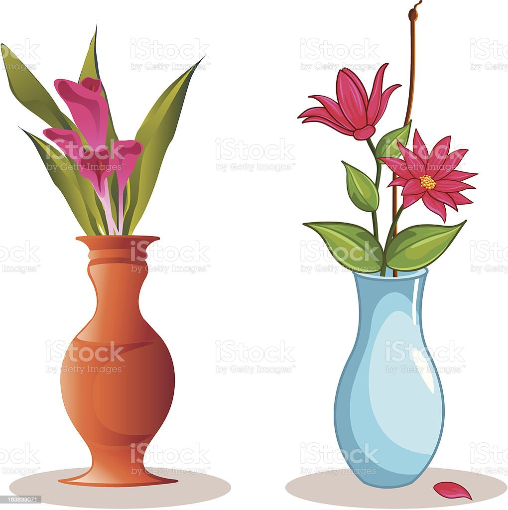 Flower Vase vector art illustration