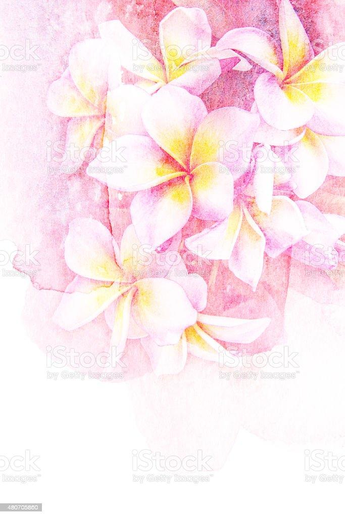 Flower watercolor illustration. vector art illustration