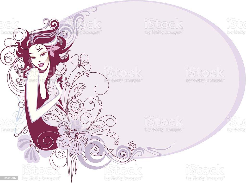 flower-girl royalty-free stock vector art