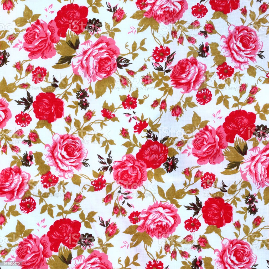 flowers fabric pattern background stock photo