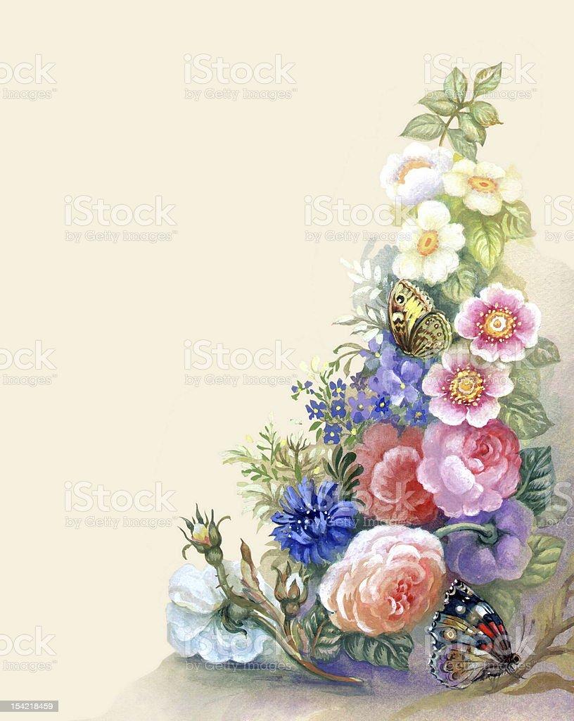 Flowers Garland royalty-free stock vector art