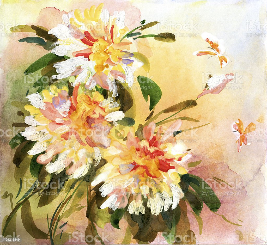 Flowers in bloom royalty-free stock vector art