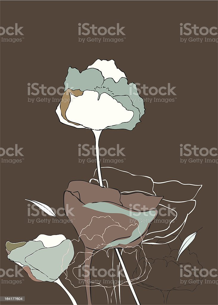 Flowers on Brown royalty-free stock vector art