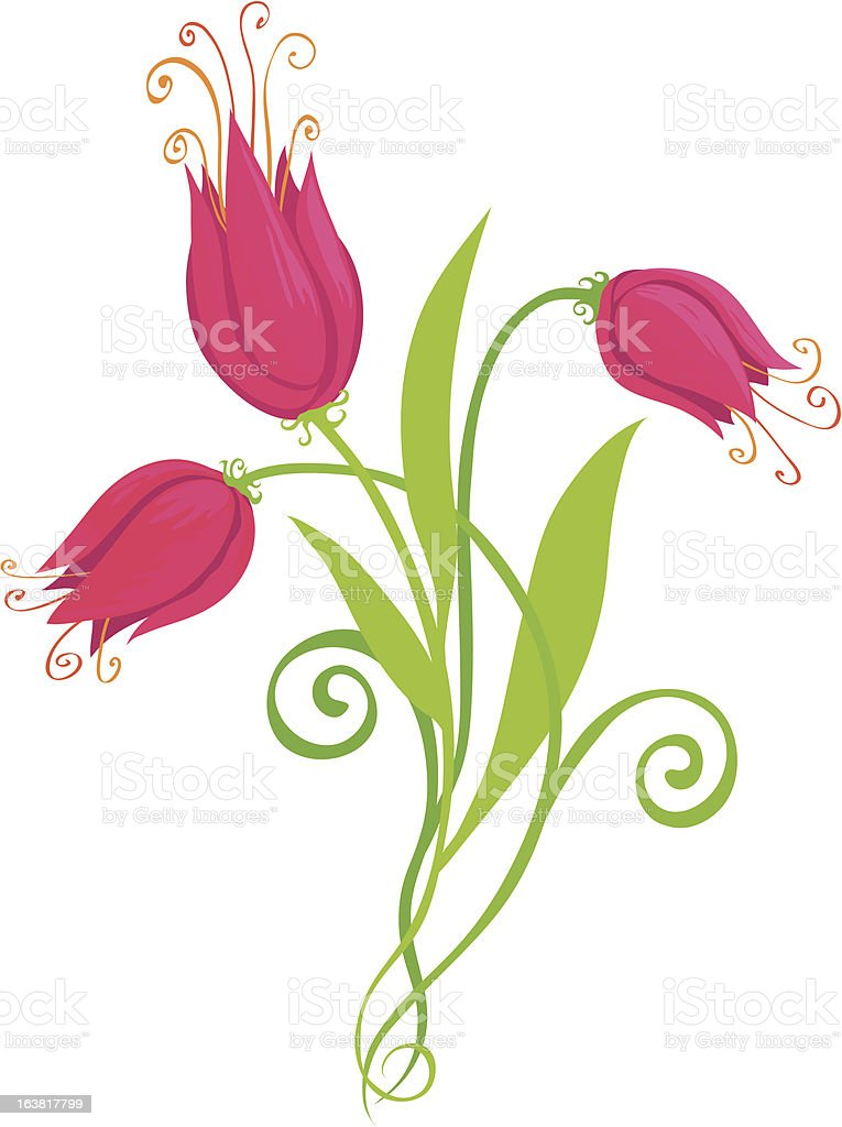Flowers: Pink royalty-free stock vector art