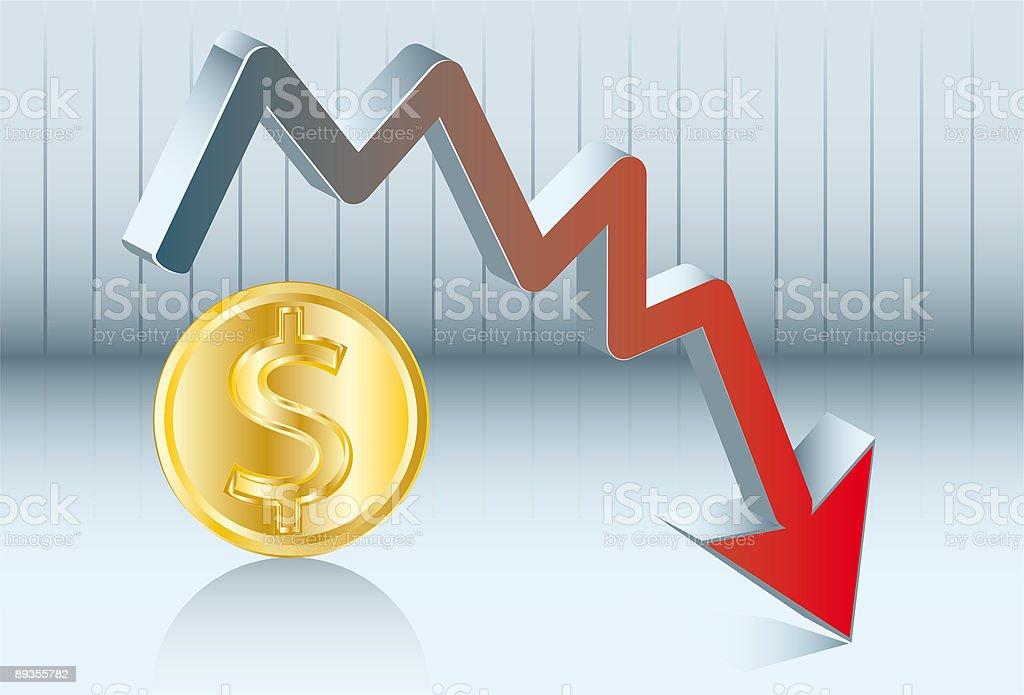 fluctuation's dollar vector art illustration
