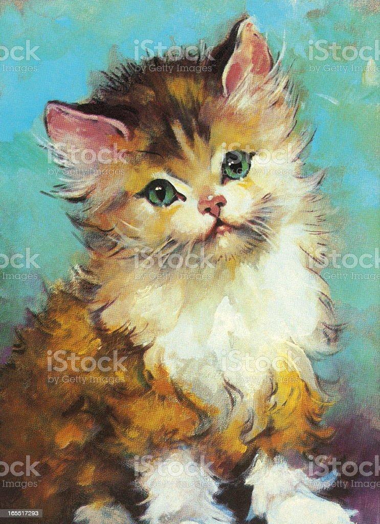 Fluffy Cat royalty-free stock vector art