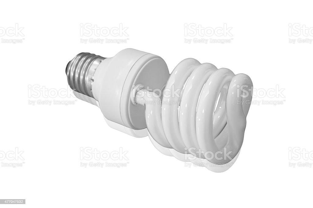 Fluorescent Energy Saving Light Bulb royalty-free stock vector art
