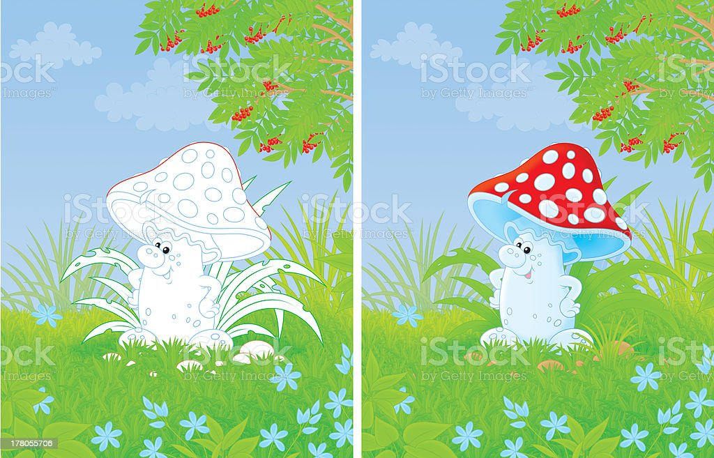 Fly agaric royalty-free stock vector art