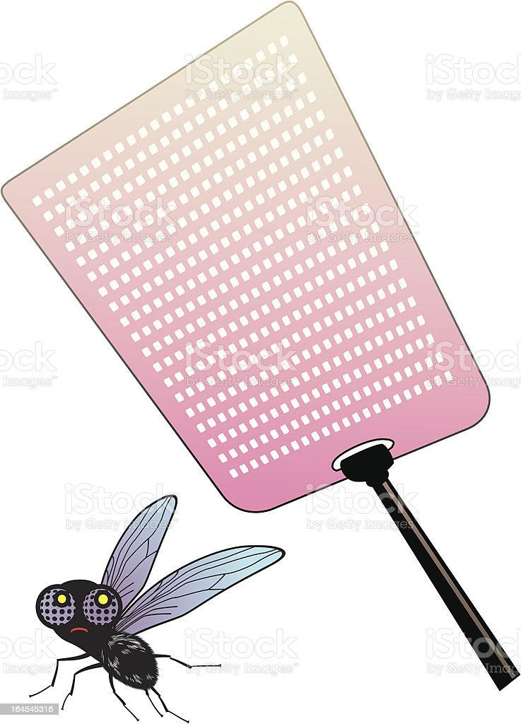 Fly and swatter royalty-free stock vector art