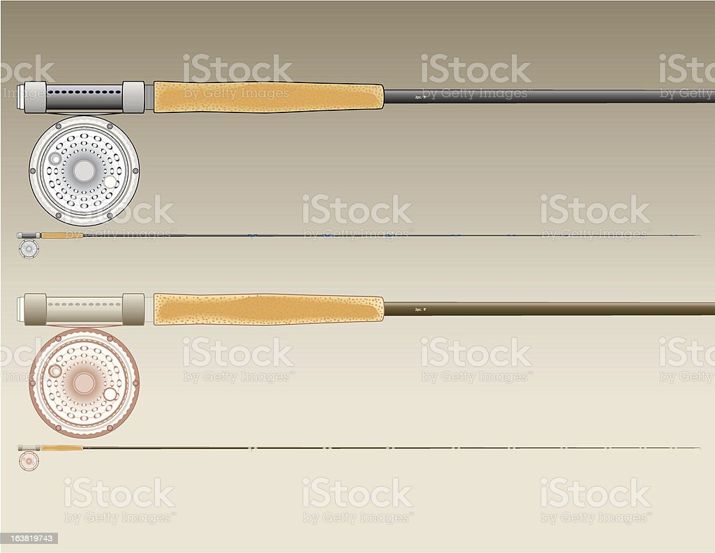 Fly_Reel_Rods royalty-free stock vector art