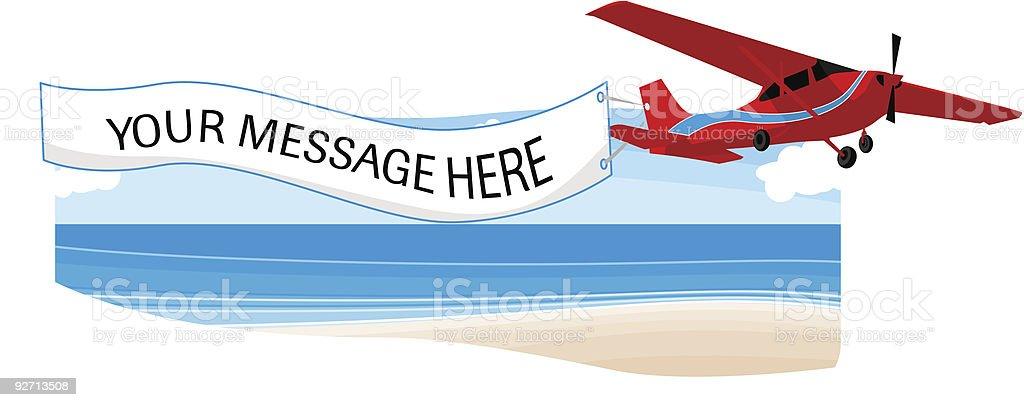 Flying Advertising Banner royalty-free stock vector art