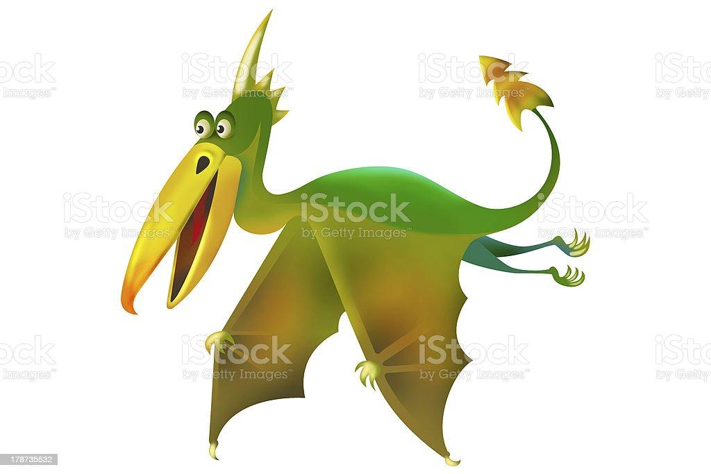 flying pterodactyl royalty-free stock vector art