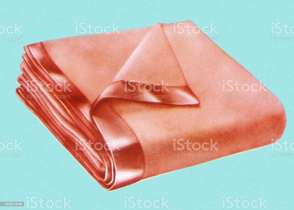 Folded Blanket vector art illustration