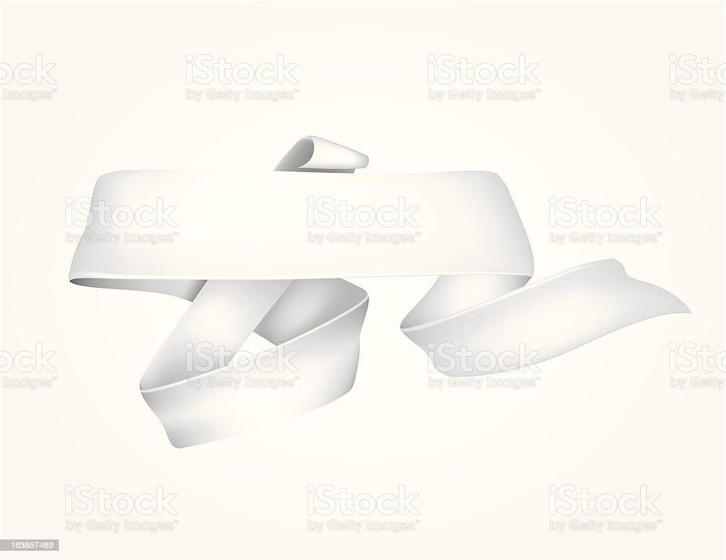 Folded ribbon royalty-free stock vector art