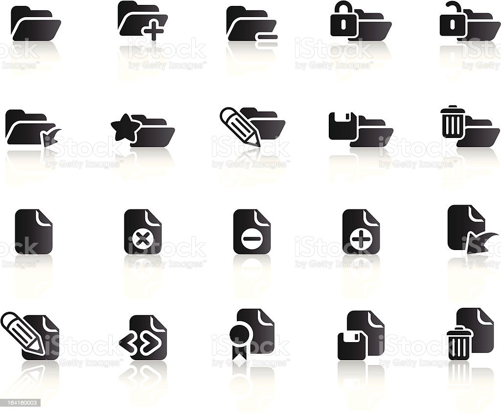 Folder and Document Icons (Ref 1) vector art illustration