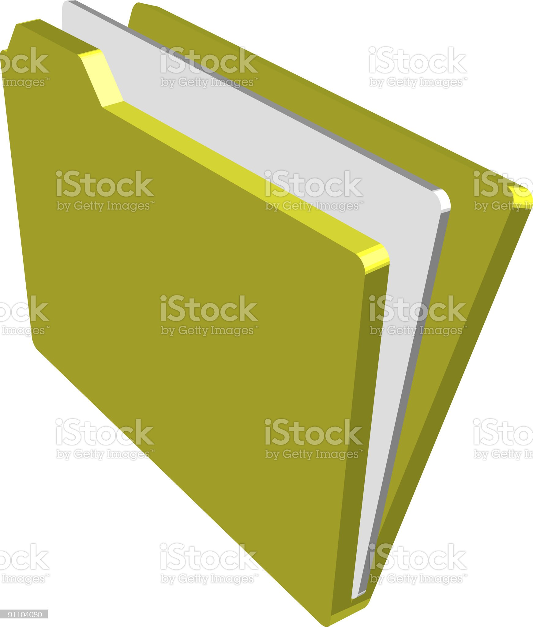 Folder royalty-free stock vector art