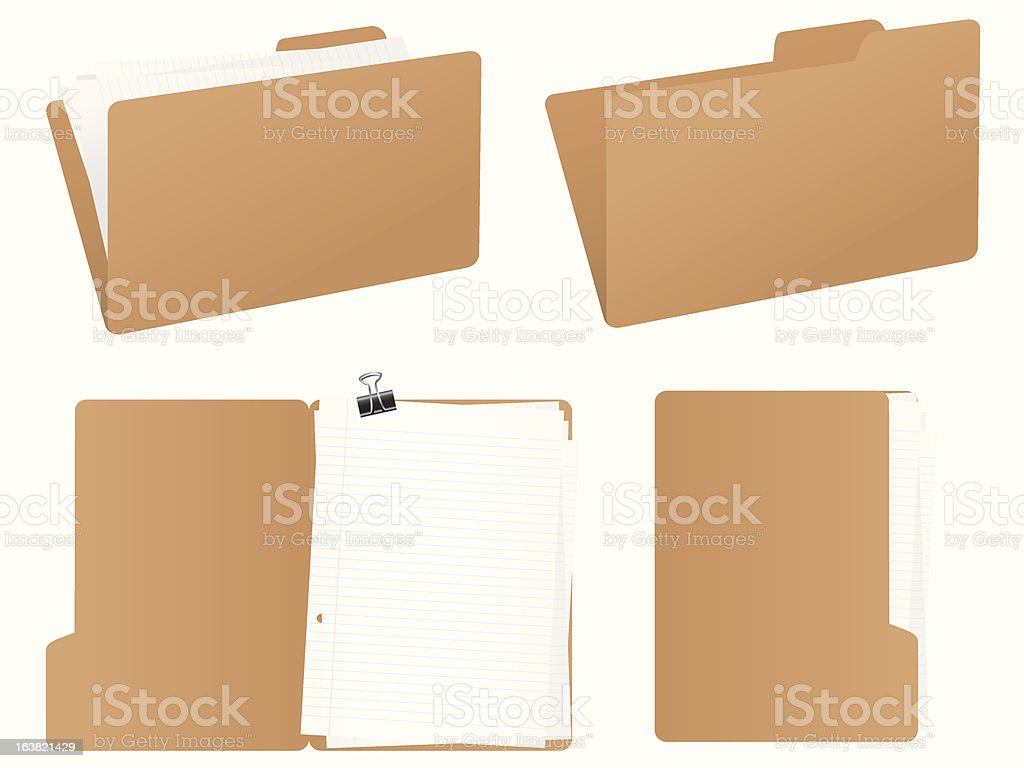 Folder set vector art illustration