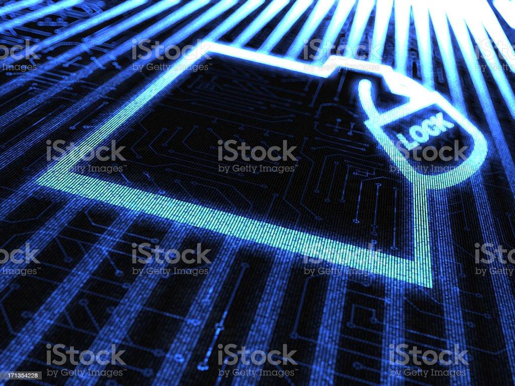 folderlock royalty-free stock vector art