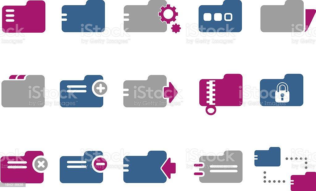 Folders Icon Set royalty-free stock vector art