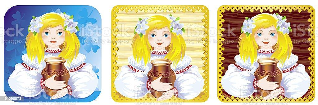Folk download vetor e ilustração royalty-free