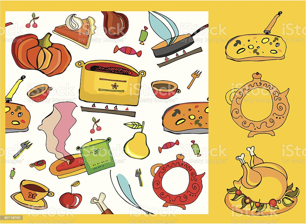 Food background royalty-free stock vector art