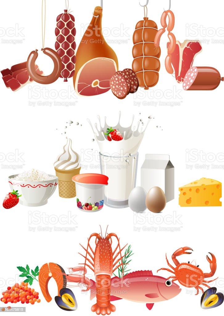 food borders royalty-free stock vector art