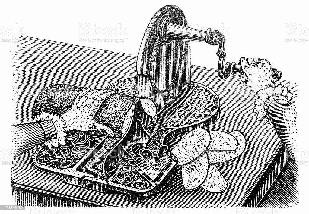 food Cutter vector art illustration