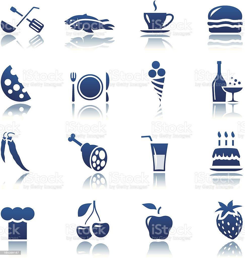 Food & drink icon set royalty-free stock vector art