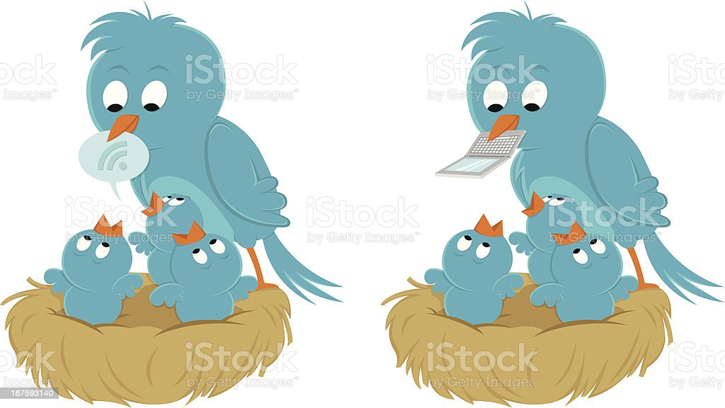 Food for baby bluebirds royalty-free stock vector art
