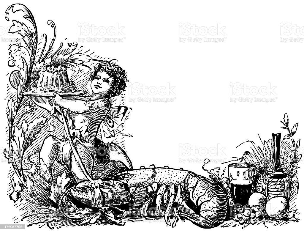 Food frame | Antique Design Illustrations royalty-free stock vector art