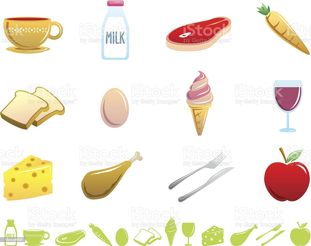 Food Icons - Duo Series royalty-free stock vector art