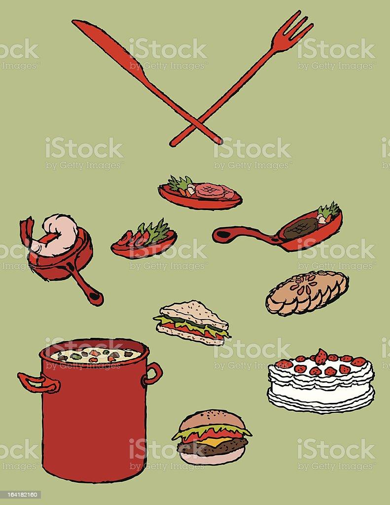 food icons set~restaurant~ vector art illustration