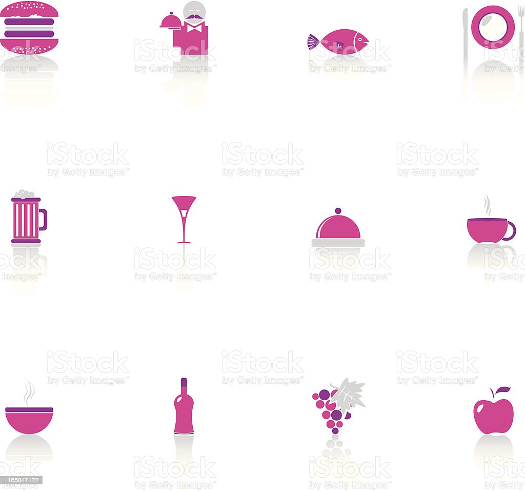 Food & Restaurant Icon Set royalty-free stock vector art