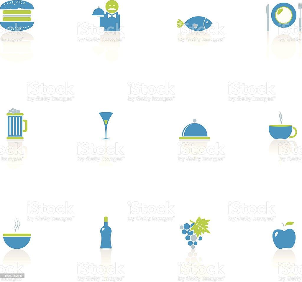 Food & Restaurant Icon Set royalty-free stock vector art