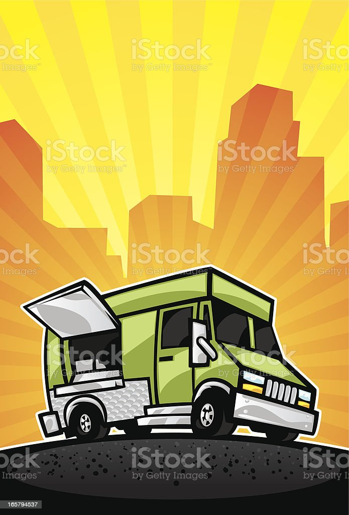 food truck background royalty-free stock vector art