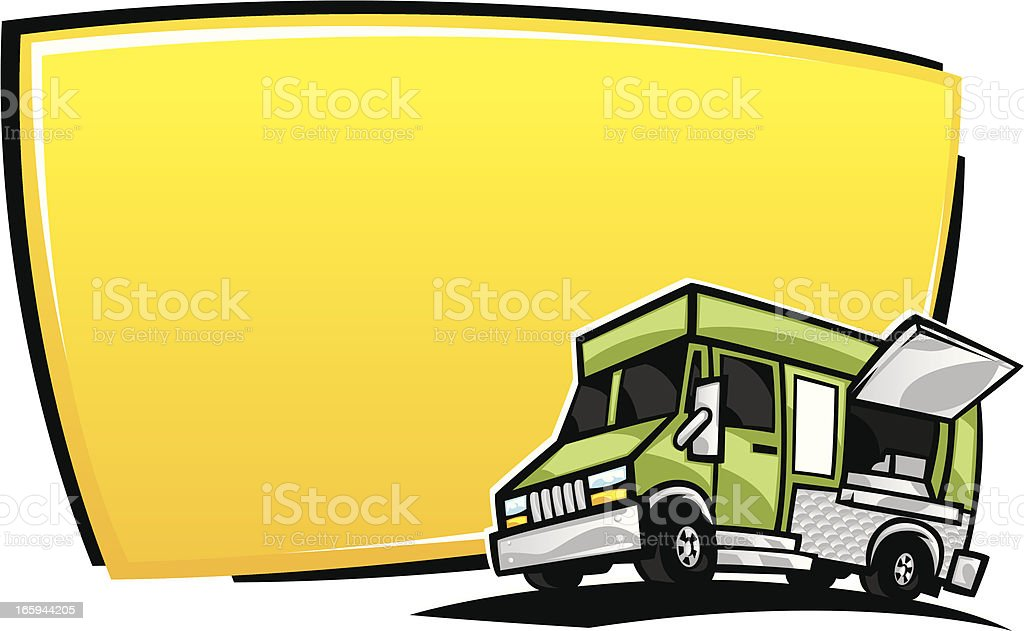 food truck banner royalty-free stock vector art