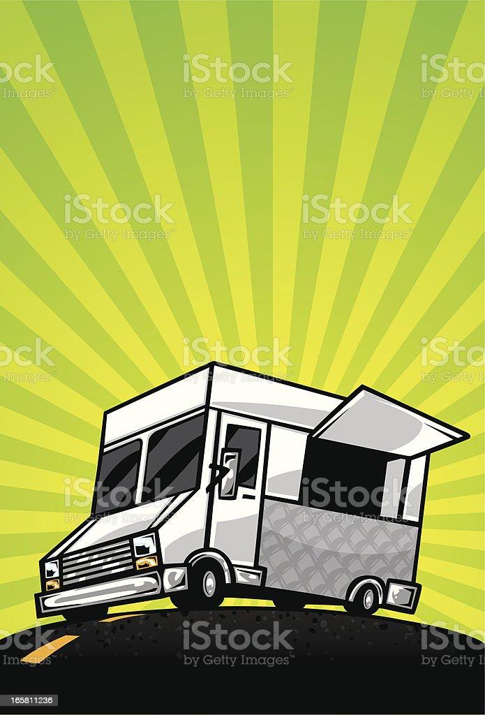 food truck burst flier vector art illustration