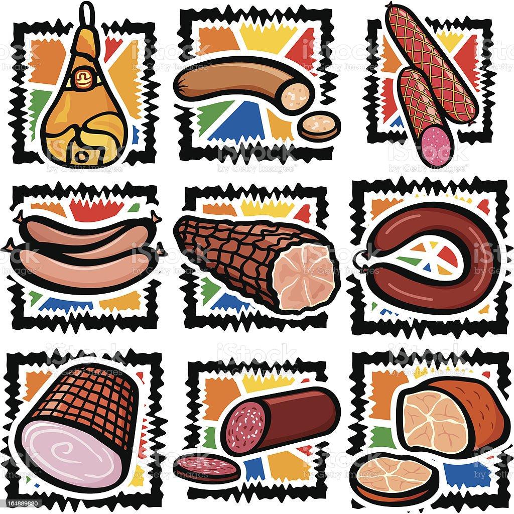 Food VII: Meats (Vector) royalty-free stock vector art