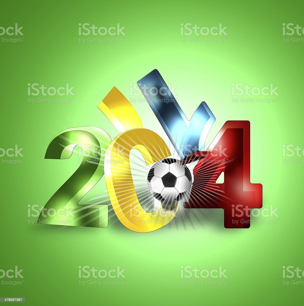 2014 football 3d vector art illustration