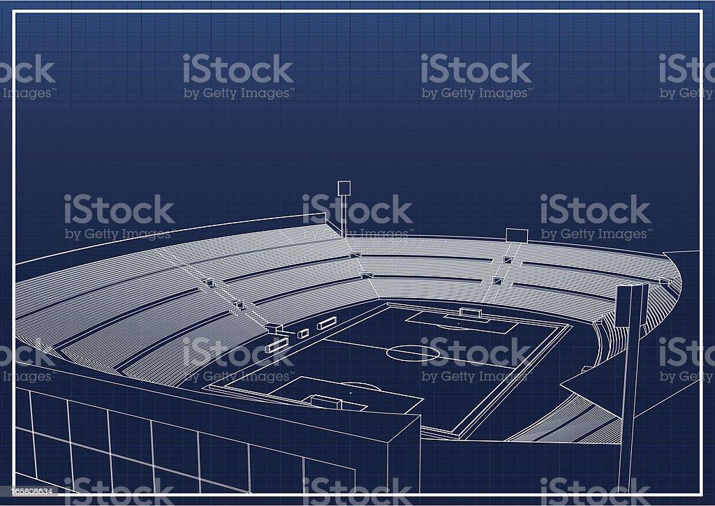 Football – soccer stadium royalty-free stock vector art