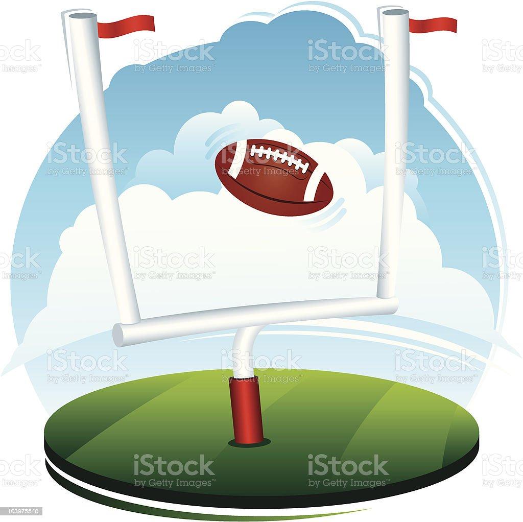 Football and Field Goal Scene royalty-free stock vector art