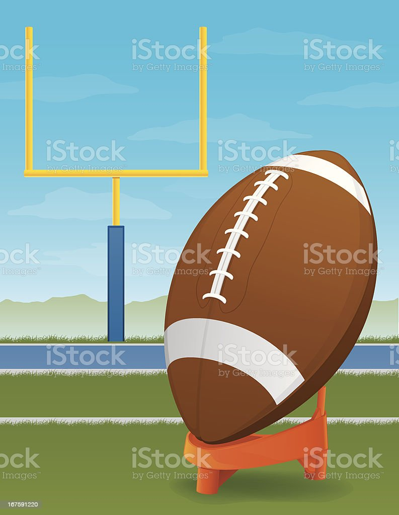 Football and Goal Post royalty-free stock vector art